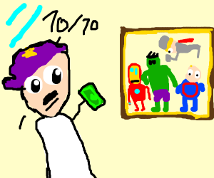 An extremely good drawing of the avengers