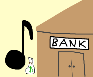 Eighth Note robs a Bank