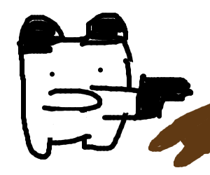 Panda shoots a bear