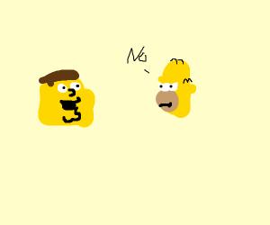 Nyeheheh hey Lois im in the Simpsons