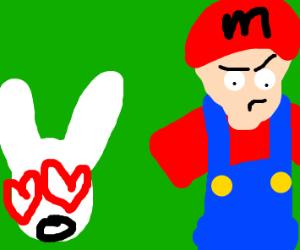 Rabbit loves Mario
