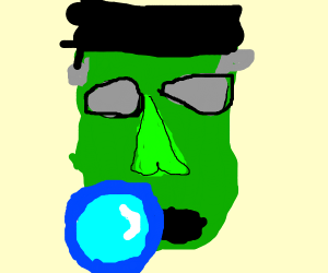 Frankenstein's Monster Blowing Bubbles