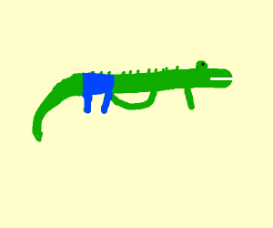 alligator is doing something down his pants