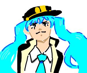 Menacing Miku is Jotaro