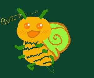 snail bee is cute
