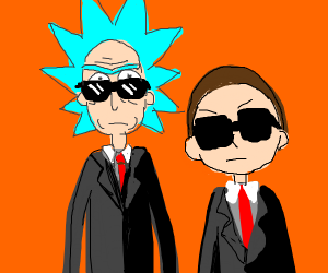 rick and morty in the matirx