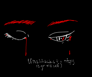 Eyes with Twenty One Pilots logo in them :)