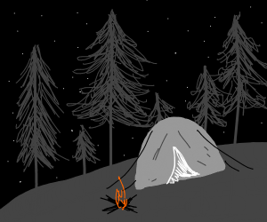 Camping on a starry night
