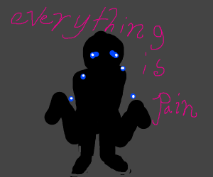 crying silhouette says everything is pain
