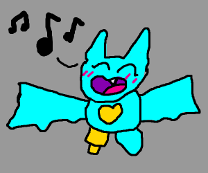 A Singing Bat (Maybe Oprah?)