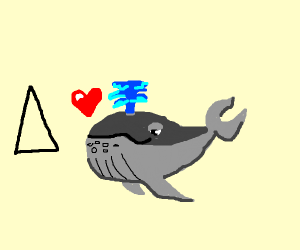 Whale admires 3-sided polygons