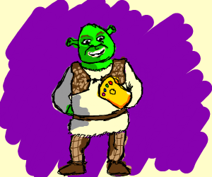 Shrek acquires the Infinity Gauntlet