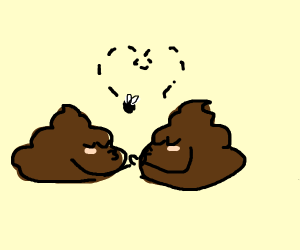 Two poops in love