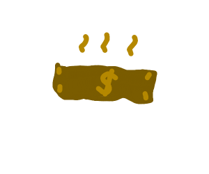 dollar made out of feces
