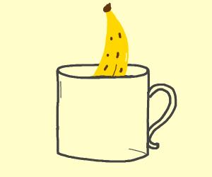 Banana in a mug