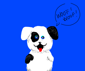 A happy cute dog