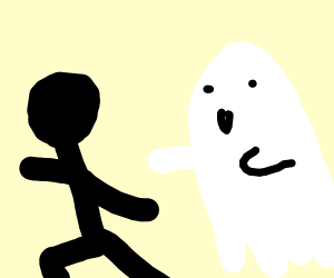 Scared! Running from ghost