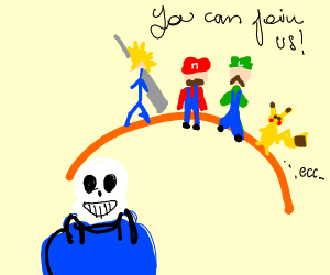 sans getting an invite to smash brothers