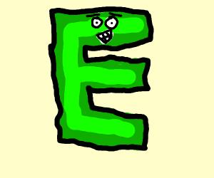 green E w/ face