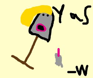 Female shovel