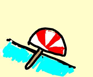 An Umbrella crossing the Ocean