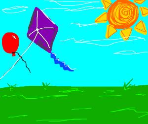 baloon flying cross kite