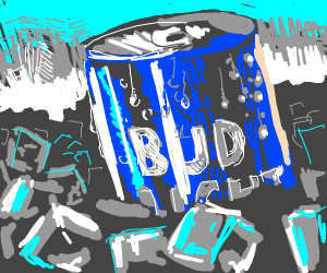 An Ice Cold Bud Light