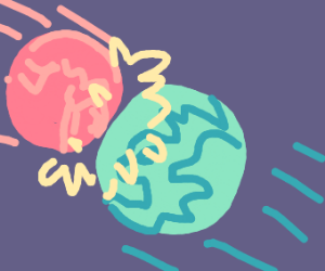 Planets crashing into eachother