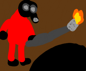 Pyro stares into the abyss
