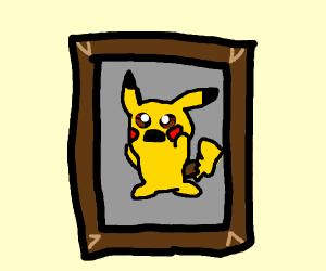 Painting of Pikachu during psychotic breakdow