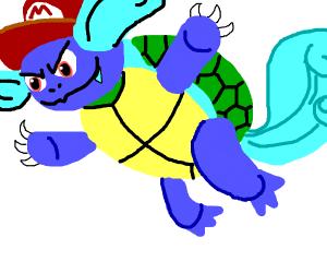 Wartortle + Mario + Bowser