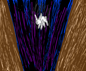 Bunny steps into the abyss