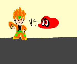 Dio vs Mario eyeballs