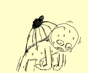Man being corrupted by a spider