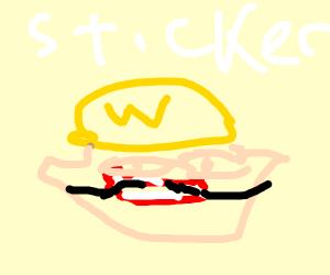 Waluigi Sticker