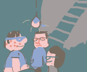 Gross nerds in a basement