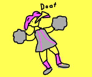 Doot cheerleader