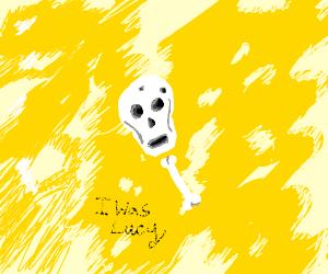 lucy the skeleton in the desert