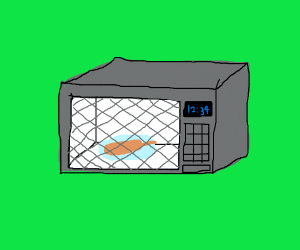 corn dog in a microwave