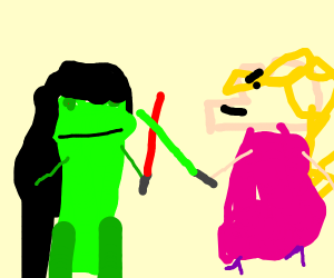 darth kermit vs jedi master mrs piggy