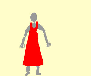 Mannequin with dress