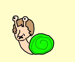 Shaggy the long neck snail