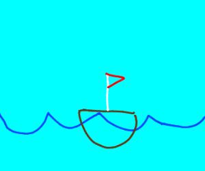 a ship in the ocean