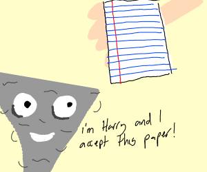 hurricane harry accepts a paper