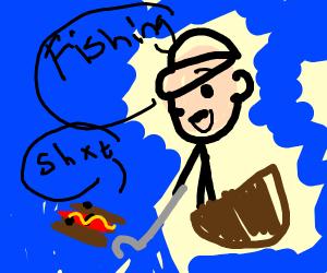 fishing for a hotdog
