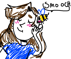 You get a smooch from a cute bee!