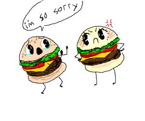 male burger apologies to female burger