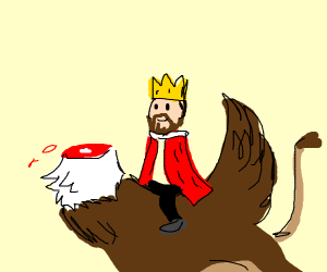 King Brock and his headless griffin