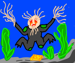 Scopa diver can't hold his spaghetti together