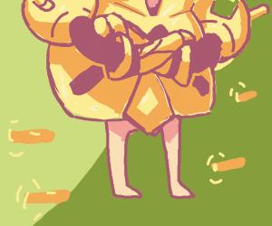 Pikachu's attacking nudist